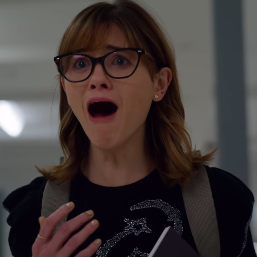 image of Natalie Dyer screaming from 'Velvet Buzzsaw' (2019)